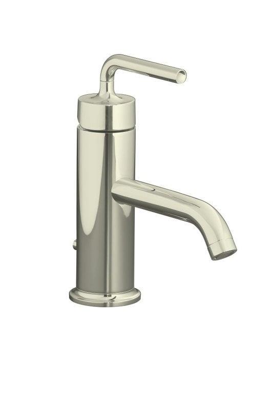 Kohler Purist Single Handle With Metal Pop Up Drain Bathroom Faucet Polished Nickel K 14402
