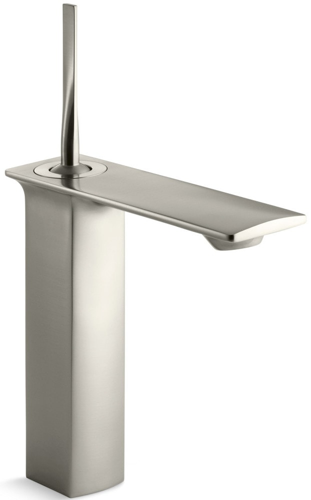 Kohler Stance Single Hole With Touch Activated Drain Bathroom Faucet Vibrant Brushed Nickel