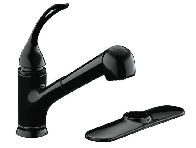 Kohler Coralais® Single Handle With Pullout Spray And MasterClean Sprayface Kitchen Faucet