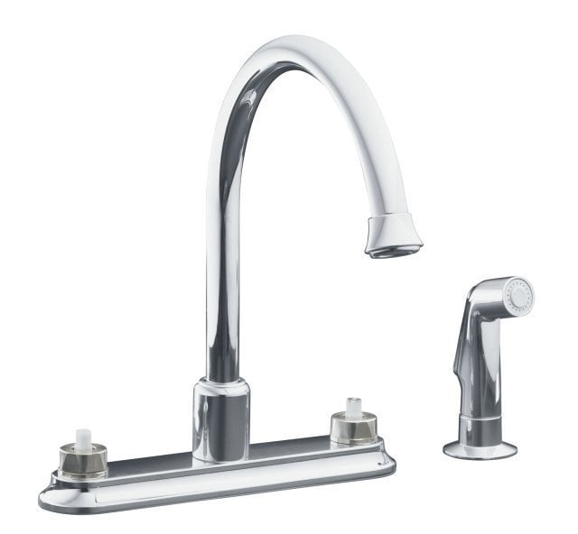 Kohler coralais double handle with sidespray without for Kitchen faucet recommendations