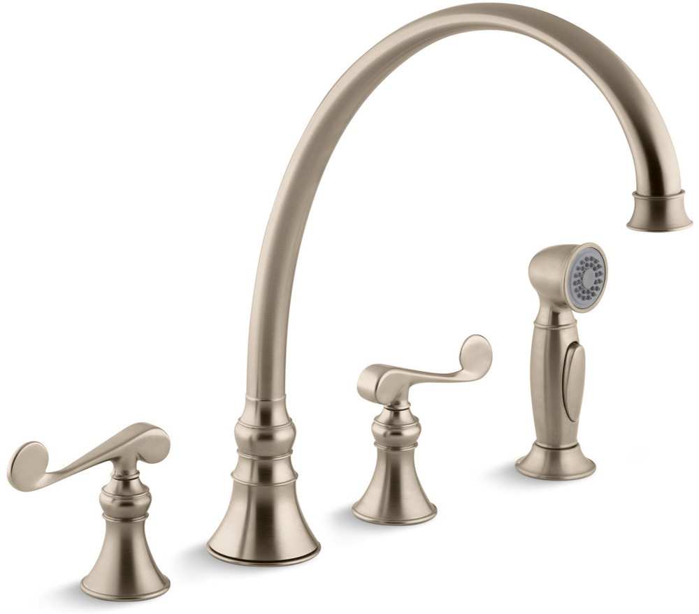 Kohler revival double handle with sidespray kitchen for Kitchen faucet recommendations