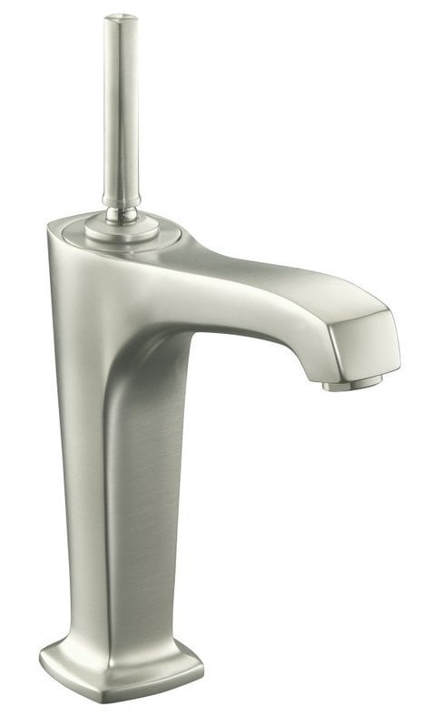 Kohler Margaux Single Handle With Touch Activated Drain Bathroom Faucet Brushed Nickel K