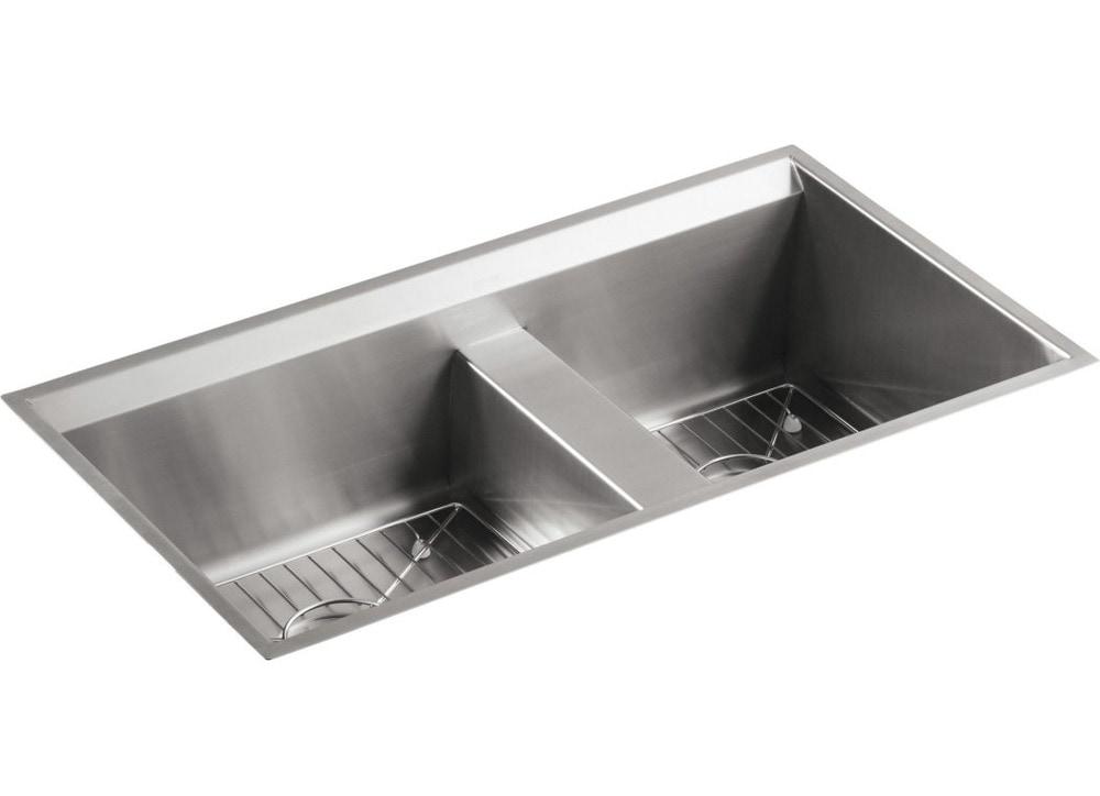 Kohler Undermount Stainless Steel Double Sink : ... Sinks Kitchen Sinks All Products Stainless Steel / Kitchen Sink / K