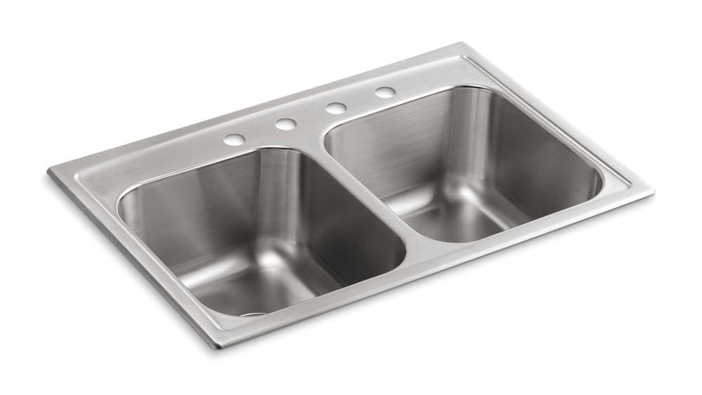 Kohler Kitchen Sinks Stainless Steel Top Mount : ... Sinks Kitchen Sinks All Products Stainless Steel / Kitchen Sink / K