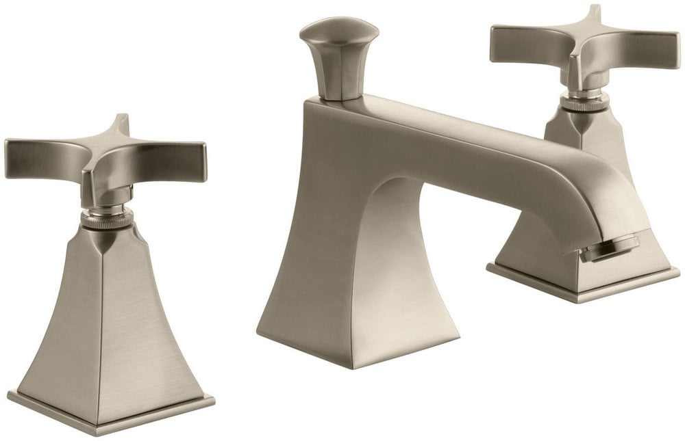 Kohler Memoirs Double Handle Widespread With Ultra Glide Bathroom Faucet Brushed Bronze K