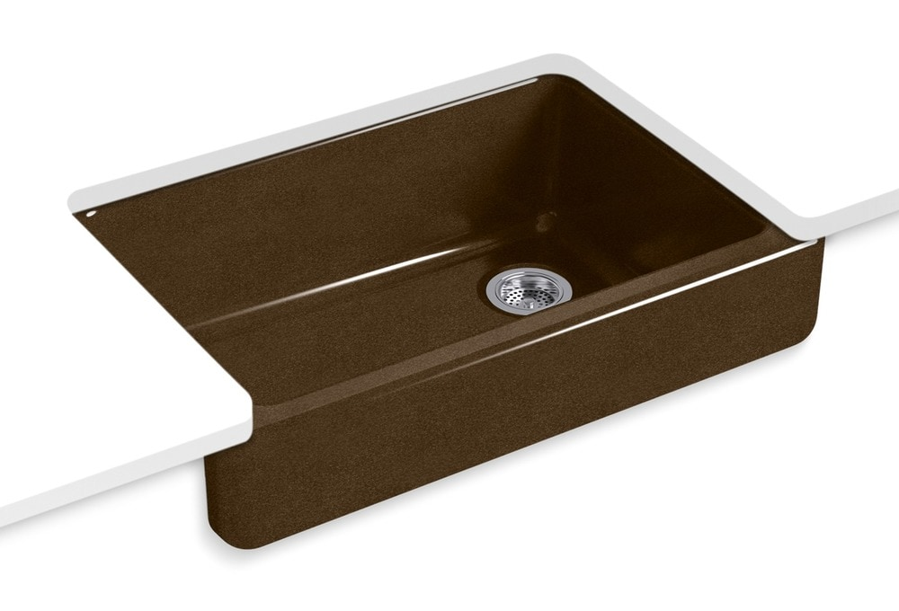 Short Apron Front Sink : ... Kitchen Sinks All Products Black And Tan / Kitchen Sink / K-5826-KA