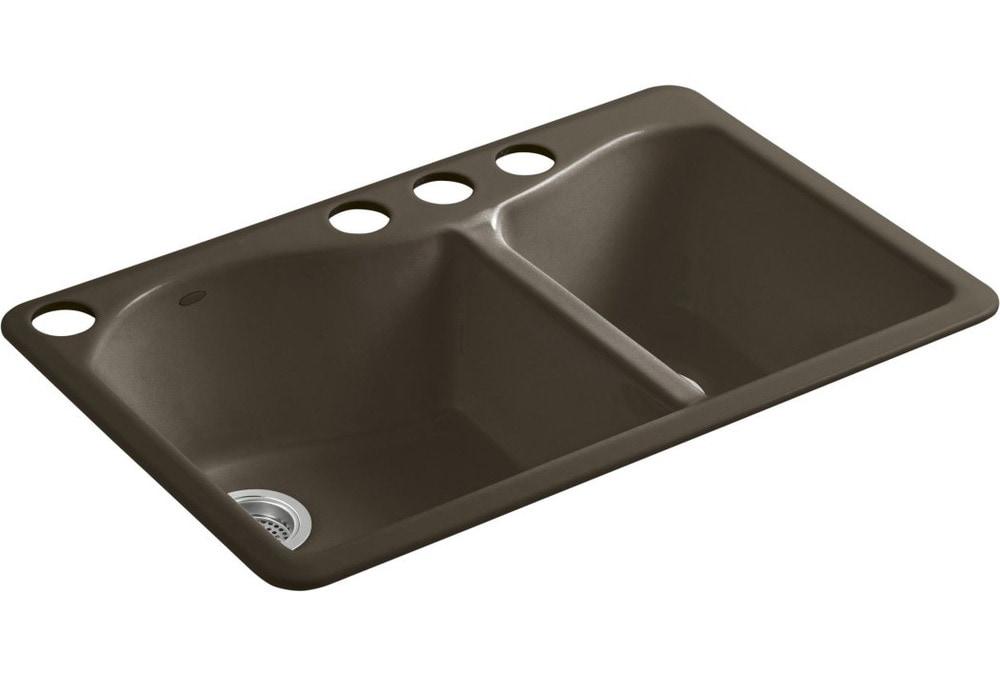 Kohler Lawnfield Sink : ... Sinks Kitchen Sinks All Products Suede / Kitchen Sink / K-5841-4U-20