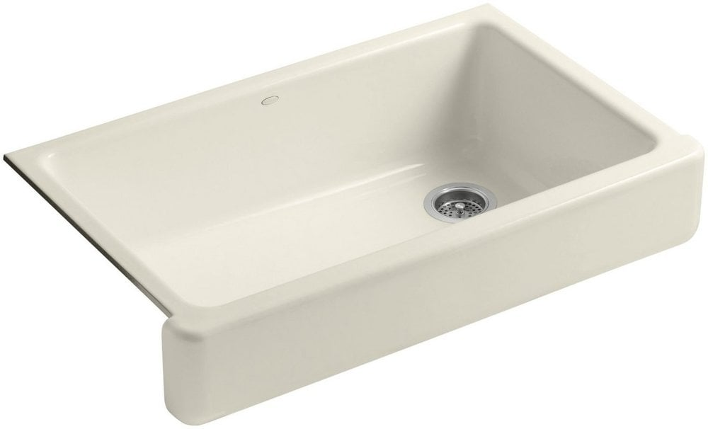 "Kohler Whitehaven® 36"" Single Basin Undermount Cast Iron W/Short Apron Almond / Kitchen Sink / K"