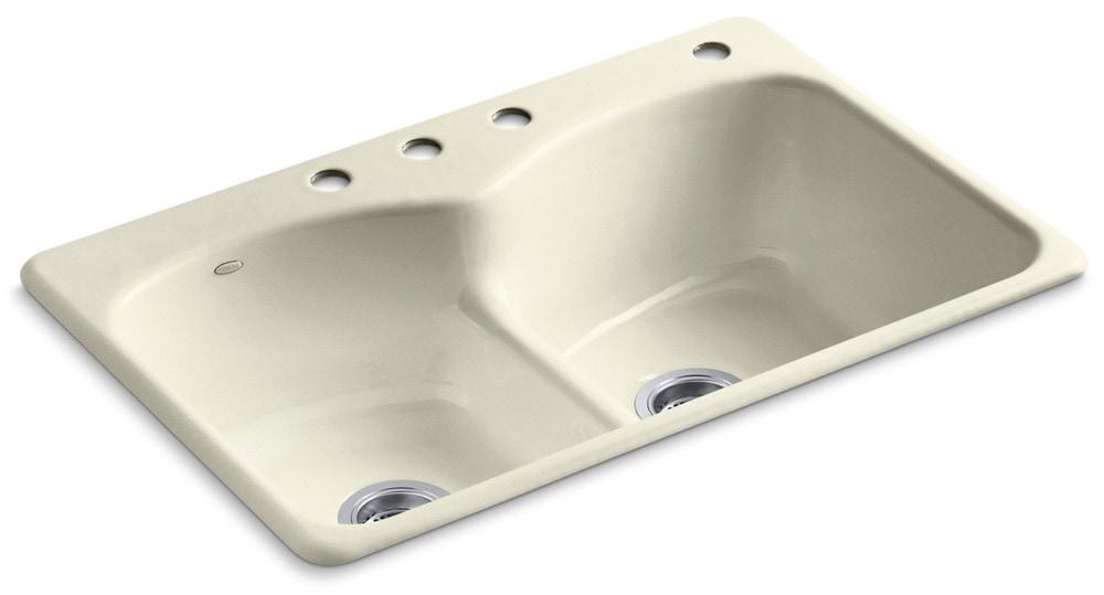 Kohler langlade 33 smart divide double equal basin w 3 holes cane sugar kitchen sink k - Five smart uses of sugar ...