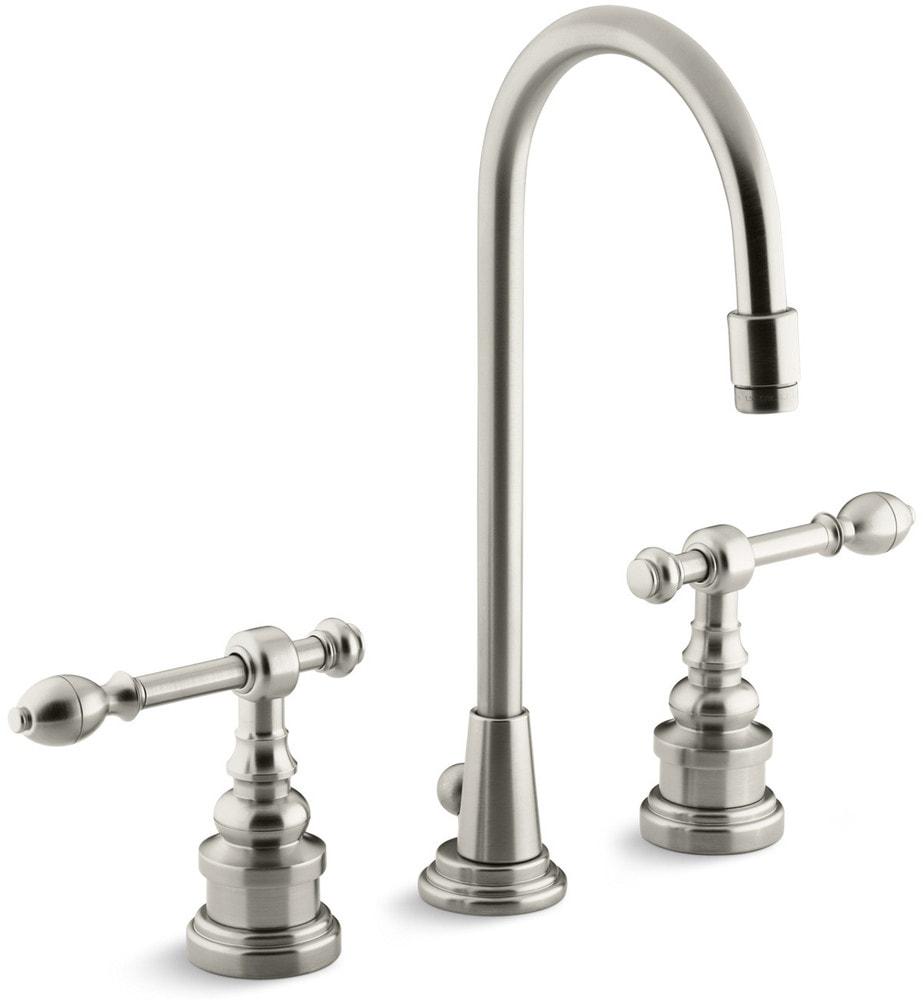 Kohler Georges Brass Widespread With Ultra Glide Bathroom Faucet Brushed Nickel K 6813 4 Bn