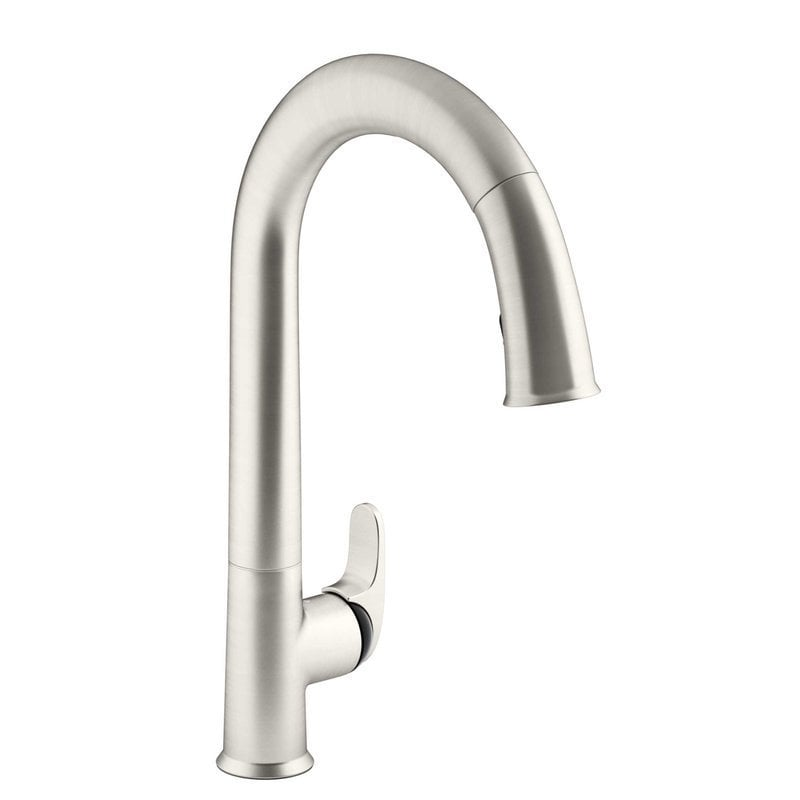 Kohler Sensate Touchless Pull Down With Black Accents And Docknetik Kitchen Faucet Vibrant