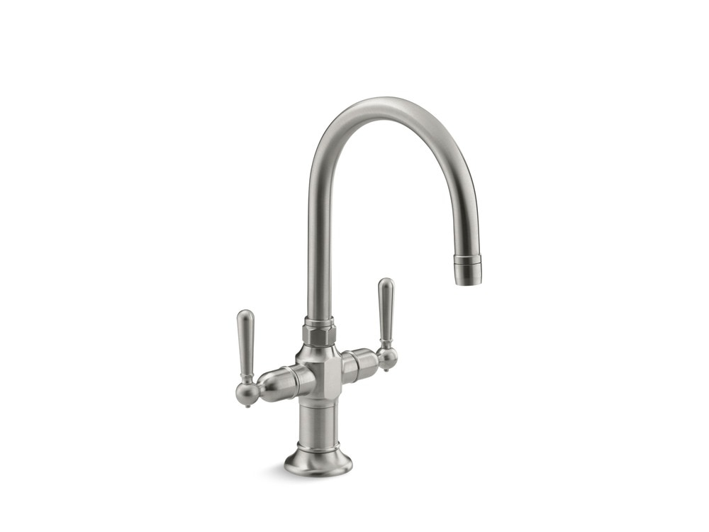 Kohler Hirise Two Handle Bar Sink Faucet With Ceramic Disc Valve Bar Faucet Brushed Stainless