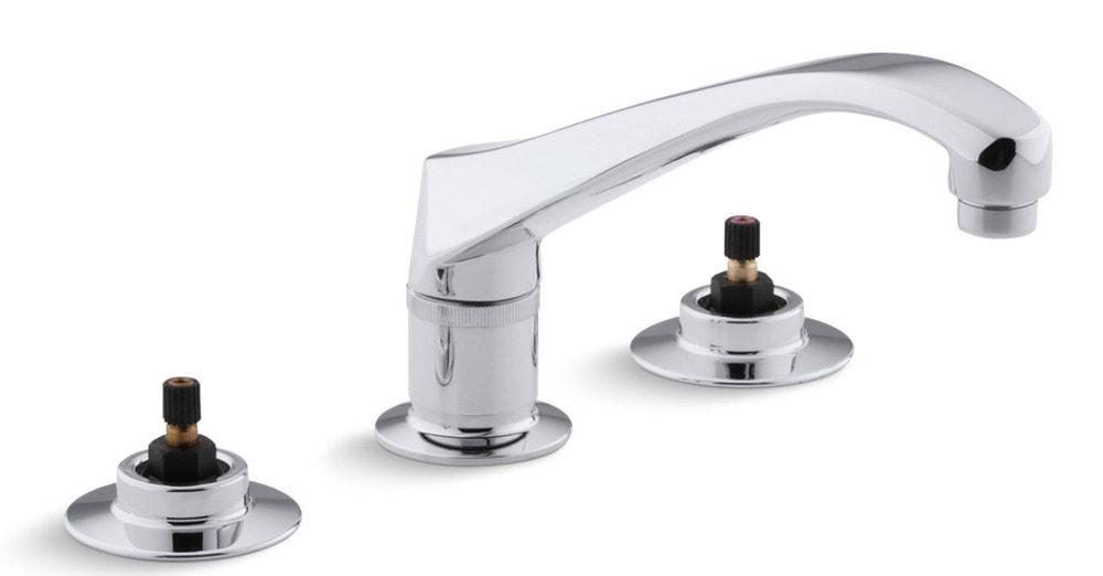 Kohler triton double handle deck mounted kitchen faucet for Kitchen faucet recommendations
