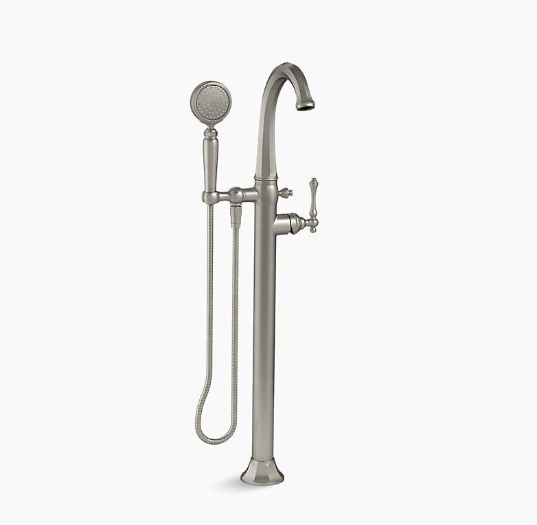 Kohler Kelston 174 Floor Mount Bath Filler W Hand Shower Less