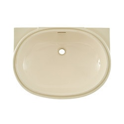 "TOTO 19 3/4"" X 13 3/4"" Oval Undercounter Lavatory w/ Sanagloss Glaze Model 150842641 Bathroom Sinks"