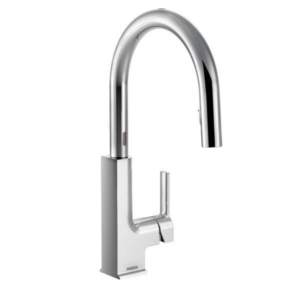 Moen sto motionsense one handle high arc reflex pulldown for Kitchen faucet recommendations