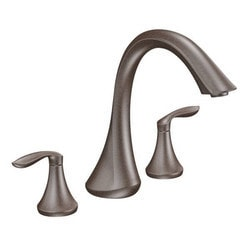 Moen Two Handle Deck Mounted Trim From The Eva (Without Valve) Type 150857081 Bathroom Faucets in Canada