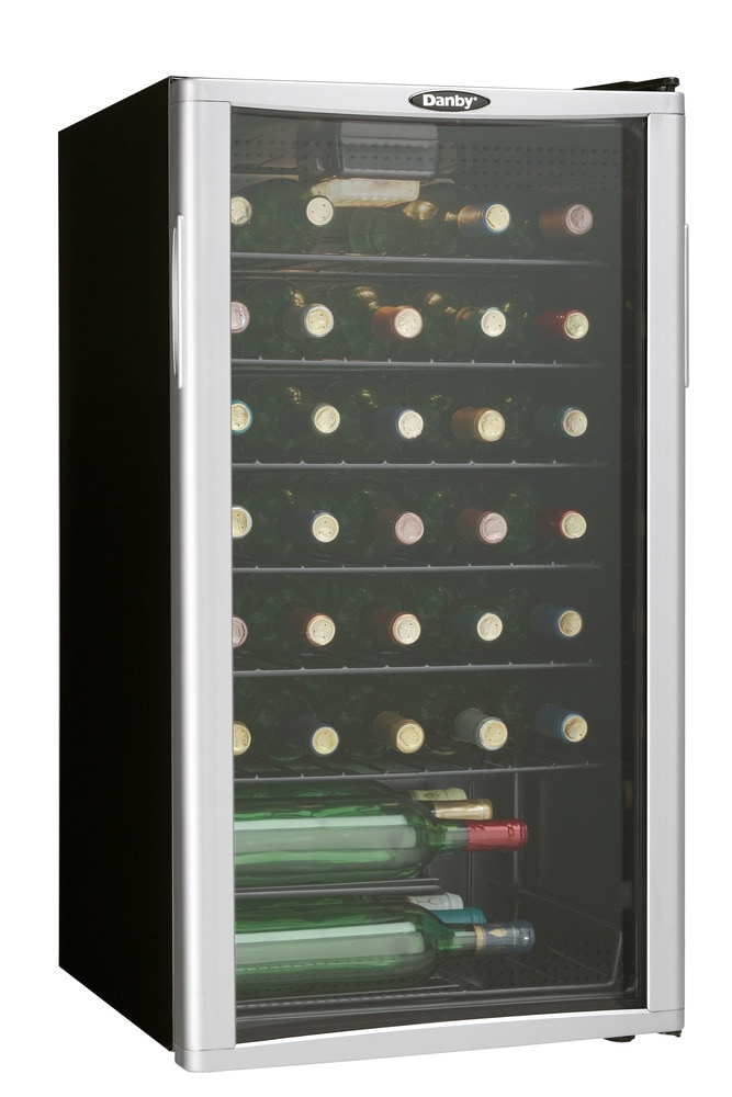 Danby free standing wine coolers wine cooler 35 bottle for Modern homes 8 bottle wine cooler