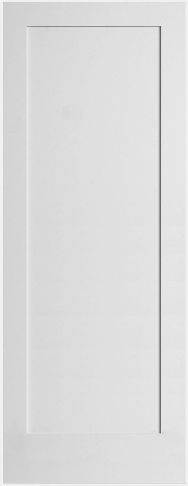Viewpoint doors primed 1 panel shaker primed mdf 18 x80 for 18 inch interior door white