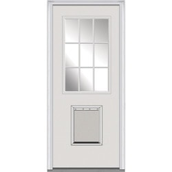 Door Build Clear Glass Steel Prehung Entry Door Type 150442111 Exterior Doors in Canada