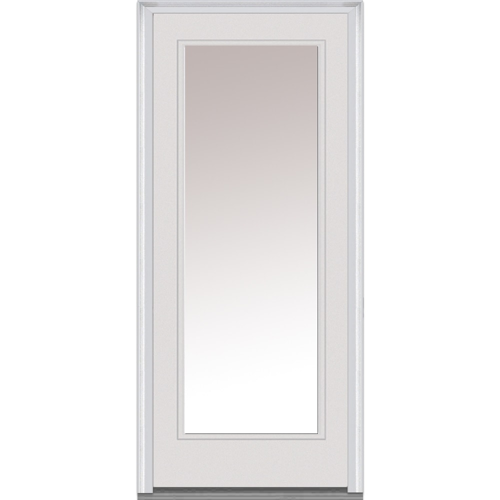 Exterior Fiberglass Door Full Glass : Doorbuild clear glass collection fiberglass smooth prehung