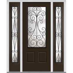 Door Build Camelia Glass Fiberglass Smooth Prehung Entry Door Type 151626281 Exterior Doors in Canada