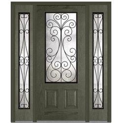 Door Build Camelia Glass Fiberglass Oak Prehung Entry Door Type 151626171 Exterior Doors in Canada