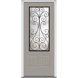 Door Build Camelia Glass Majestic Steel Prehung Entry Door Type 151625631 Exterior Doors in Canada