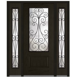 Door Build Camelia Glass Fiberglass Oak Prehung Entry Door Type 151627191 Exterior Doors in Canada