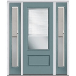 Door Build Camelia Glass Fiberglass Smooth Prehung Entry Door Type 151624591 Exterior Doors In