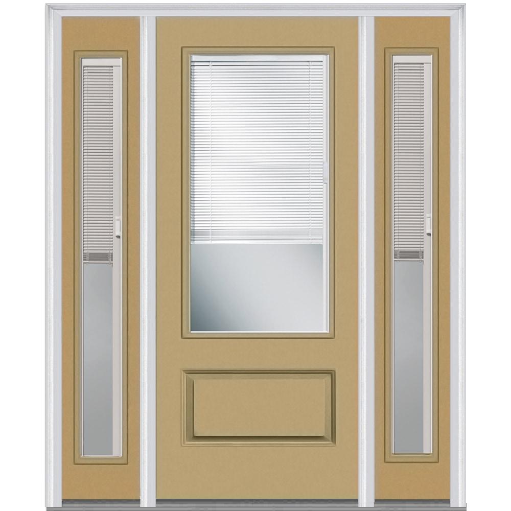 DoorBuild Internal Mini Blinds Collection Fiberglass Smooth Entry Door SAND