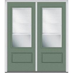 Door Build Internal Mini Blinds Fiberglass Smooth Entry Door Type 150986901 E