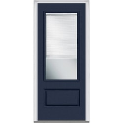 Door Build Internal Mini Blinds Fiberglass Smooth Entry Door Model 150997101 Exterior Doors
