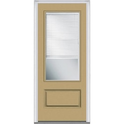 Door Build Internal Mini Blinds Fiberglass Smooth Entry Door Model 150986591 Exterior Doors