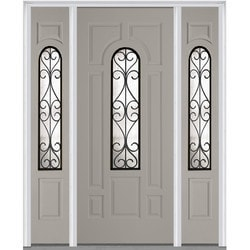 Door Build Camelia Glass Fiberglass Smooth Prehung Entry Door Model 151625191 Exterior Doors