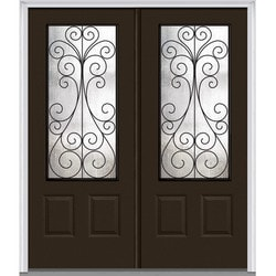 "Camelia Glass Collection Door Build Fiberglass Smooth Prehung Entry Door 72"" x 80"" Exterior Doors Type 151624811 in Canada"