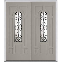 Door Build Camelia Glass Fiberglass Smooth Prehung Entry Door Model 151624791 Exterior Doors