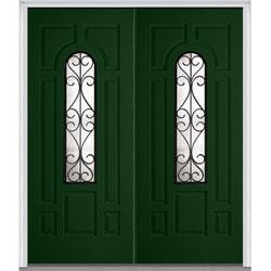 """Camelia Glass Collection Door Build Fiberglass Smooth Prehung Entry Door 72"""" x 80"""" Exterior Doors Type 151624701 in Canada"""