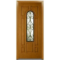 Door Build Camelia Glass Fiberglass Oak Prehung Entry Door Type 151624421 Exterior Doors in Canada