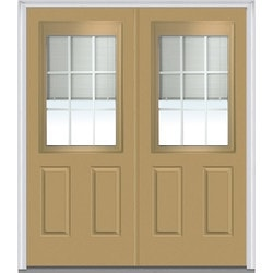 Door Build Internal Mini Blinds Fiberglass Smooth Entry Door Type 150976461 Exterior Doors In