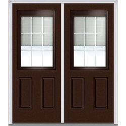 Door Build Internal Mini Blinds Fiberglass Smooth Entry Door Model 150985571 Exterior Doors