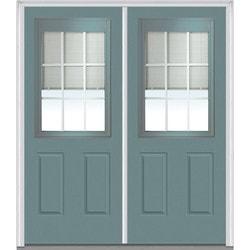 """Internal Mini Blinds Collection Door Build Fiberglass Smooth Entry Door 64"""" x 80"""" Exterior Doors Type 150985591 in Canada"""