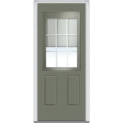 Door Build Internal Mini Blinds Steel Prehung Entry Door Type 151004971 Exter