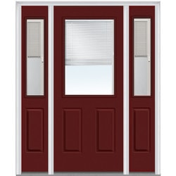Door Build Internal Mini Blinds Fiberglass Smooth Entry Door Model 150999171 Exterior Doors