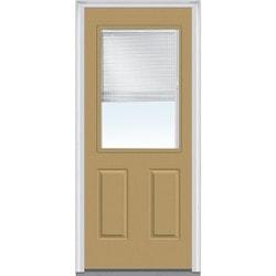 Door Build Internal Mini Blinds Fiberglass Smooth Entry Door Type 150983121 E