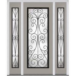 """Camelia Glass Collection Door Build Fiberglass Smooth Prehung Entry Door 64"""" x 80"""" Exterior Doors Type 151629631 in Canada"""