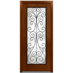 """Camelia Glass Collection Door Build Fiberglass Mahogany Prehung Entry Door 36"""" x 80"""" Exterior Doors Type 151628211 in Canada"""