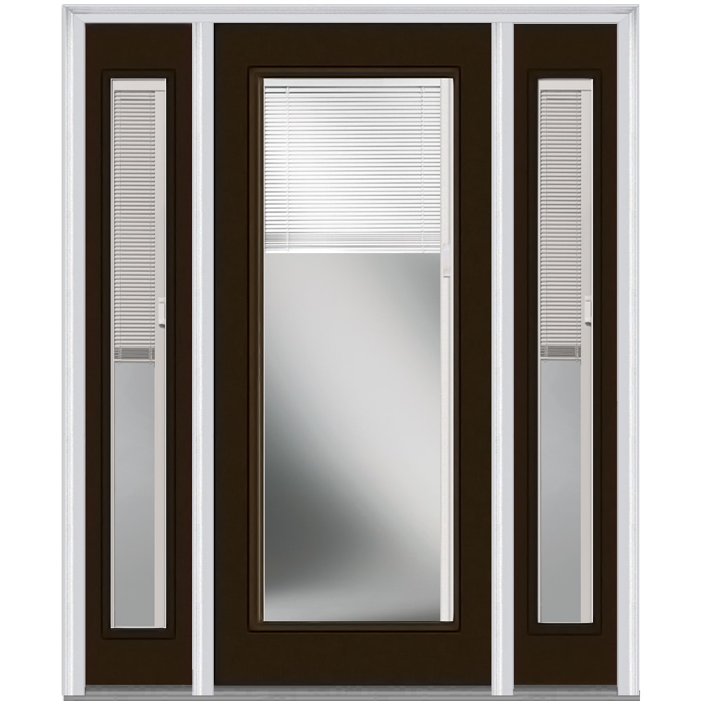 Doorbuild Internal Mini Blinds Collection Fiberglass Smooth Entry Door Brown 64 1 2 X81 3 4