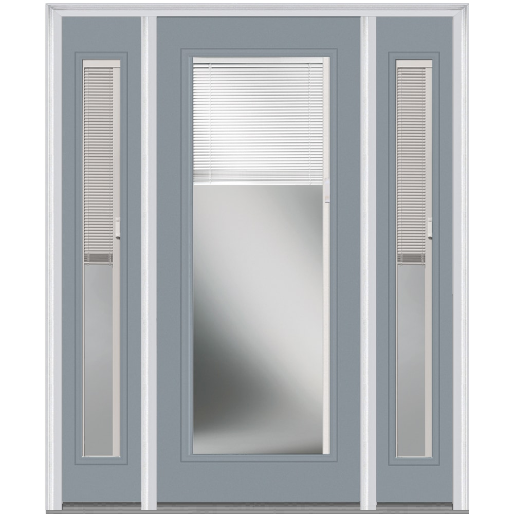 Doorbuild internal mini blinds collection steel prehung for Prehung exterior doors with storm door