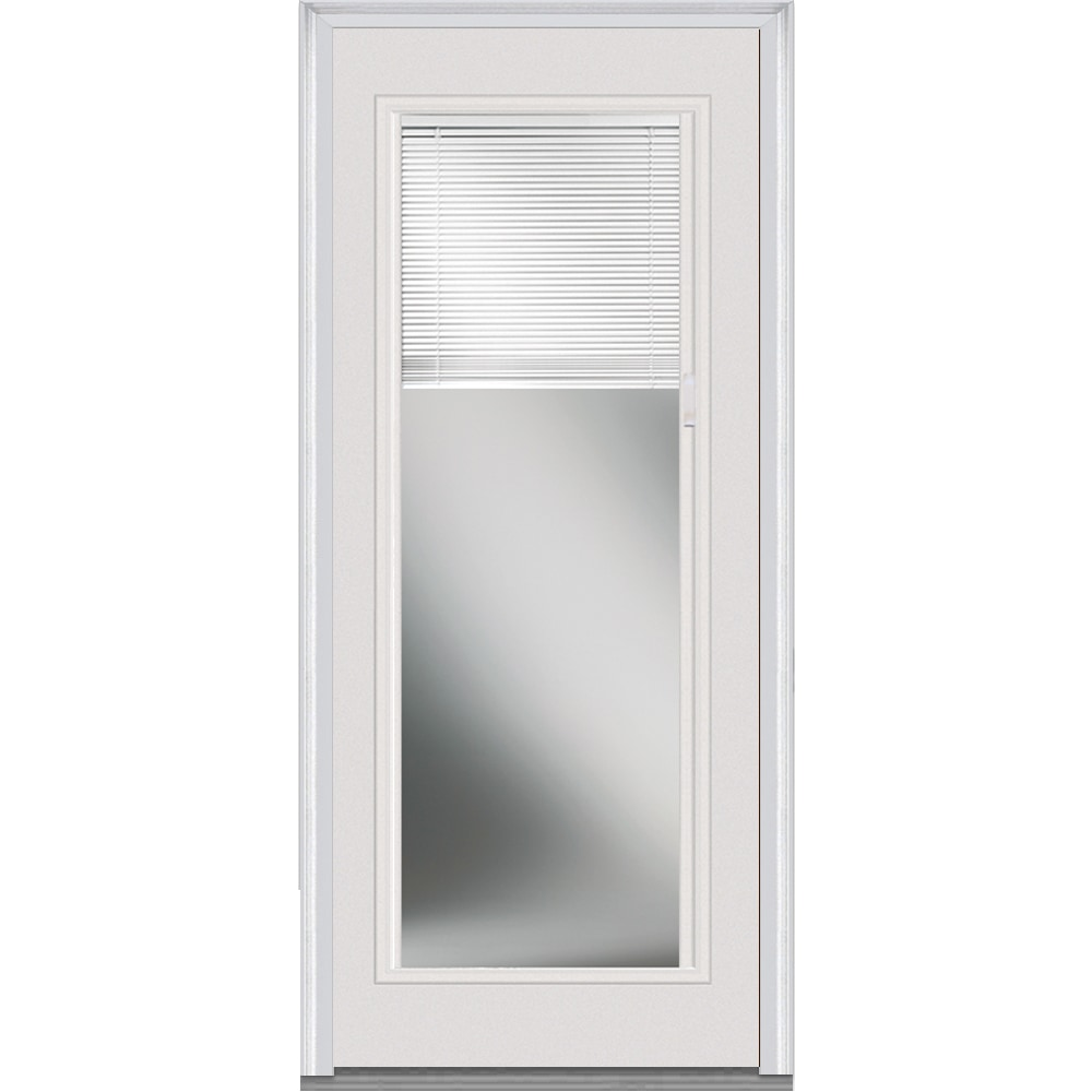 Doorbuild Internal Mini Blinds Collection Steel Prehung Entry Door Brilliant White 32 X80